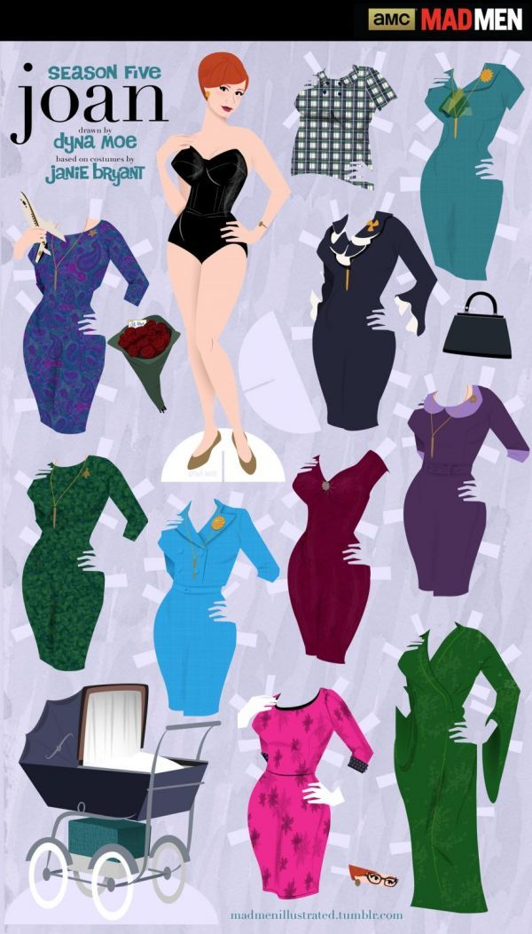 Mad Men Paper Dolls