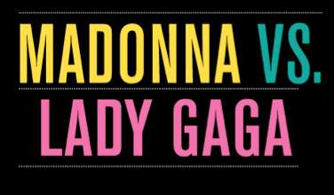 Madonna Vs Lady Gaga Infographic
