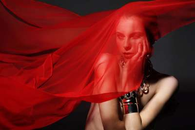 Scarlet-Cloaked Photography