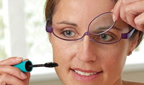 Magnifying Flip Lens Makeup Glasses