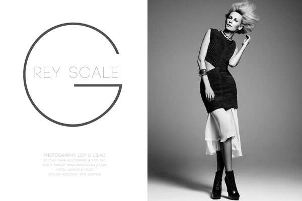 Windswept Monochromatic Editorials