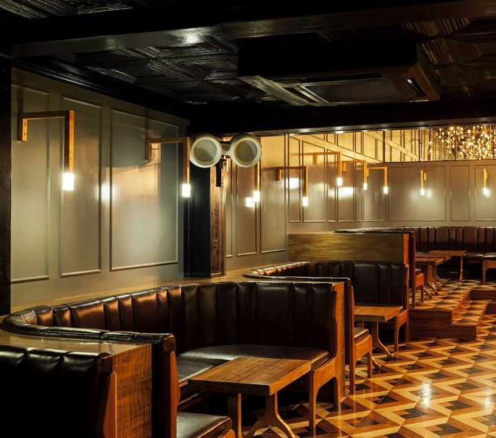 Retro Industrial Bar Interiors