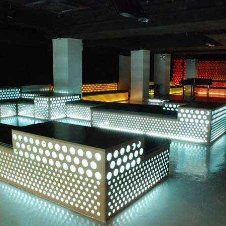 Holey bars maison du champagne bar in hk has distinct design for Bar design maison