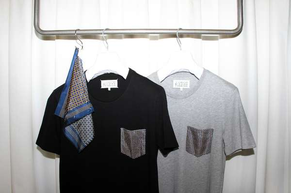maison margiela silk pocket t shirts