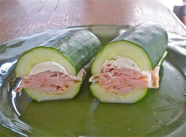 Cucumber-Enclosed Sandwiches