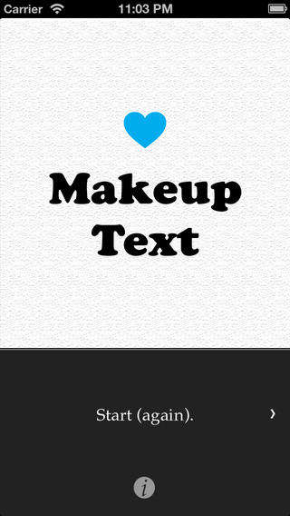 make up text