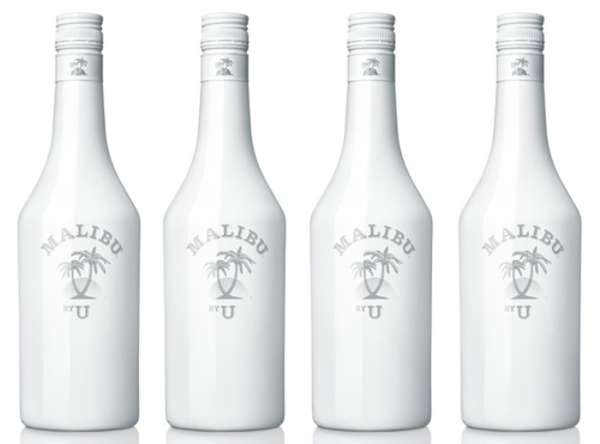 Self Created Liquor Labels Malibu By U