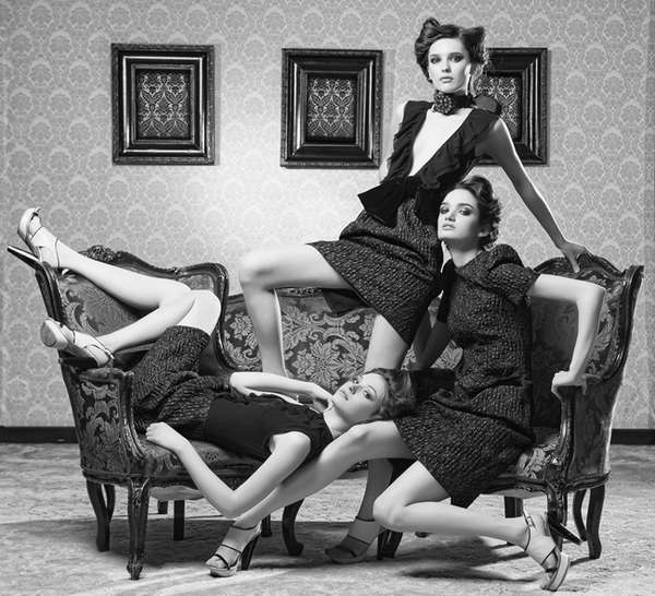 Grey-Scale Parlor Photography