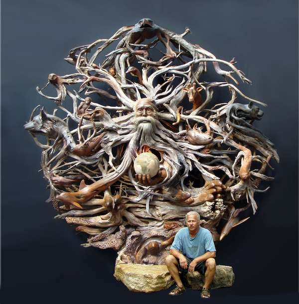 Intricate Nature-Infused Sculptures