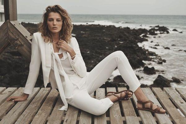 Monochromatic Seashore Fashion Ads