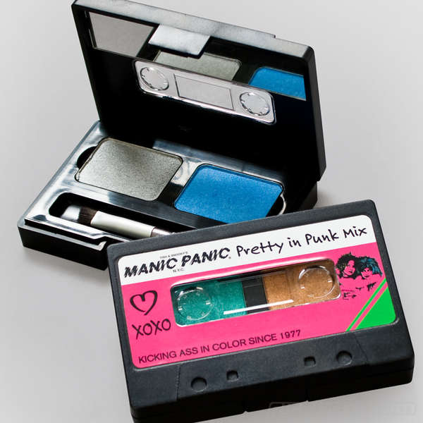 Retro Music Makeup Packaging