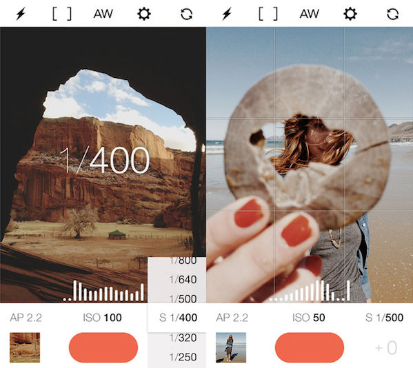 Control-Giving Photography Apps