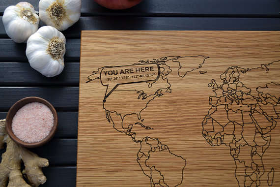 Map Cutting Boards