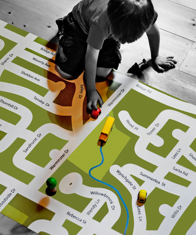 Personalized Neighborhood Mats Map For Kids