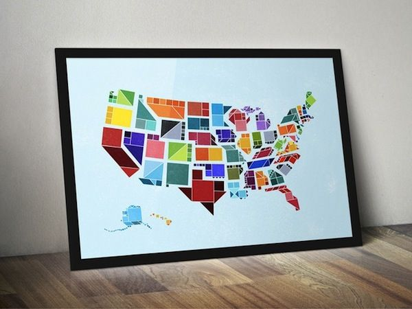 Monumental Geometric Graphic Maps