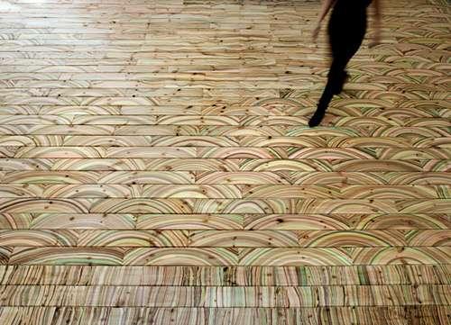 Rainbow-Like Timber Tiles