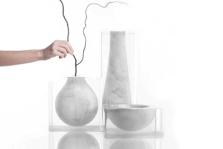 Suspended Marble Dishware