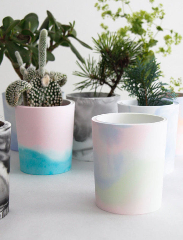 Pastel Marbled Planters