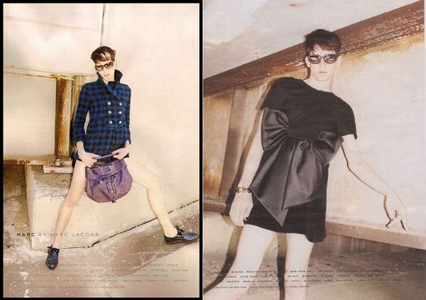 Cross Dressing Fashion Ads Marc Jacobs Puts Male Model In