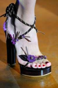 Whimsical Botanical Heels