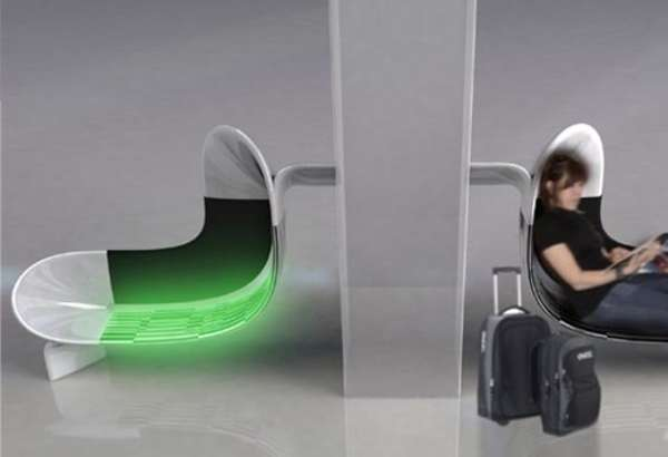 Illuminated Airport Seats