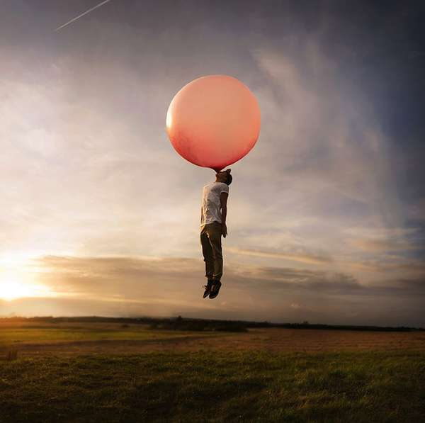 Floating Bubblegum Self-Portraits