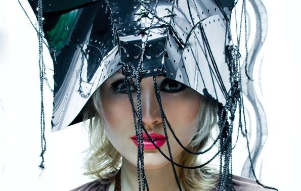 Laced-Up Metal Headwear