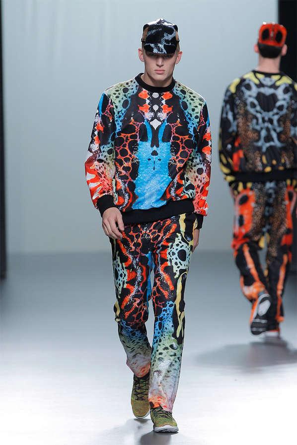 Vibrant Snakeskin Menswear