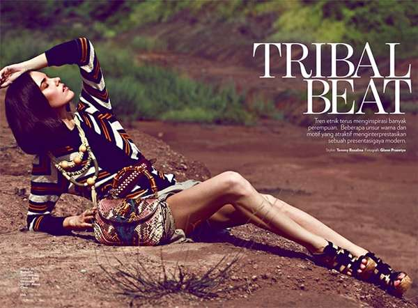 marie claire indonesia tribal beat