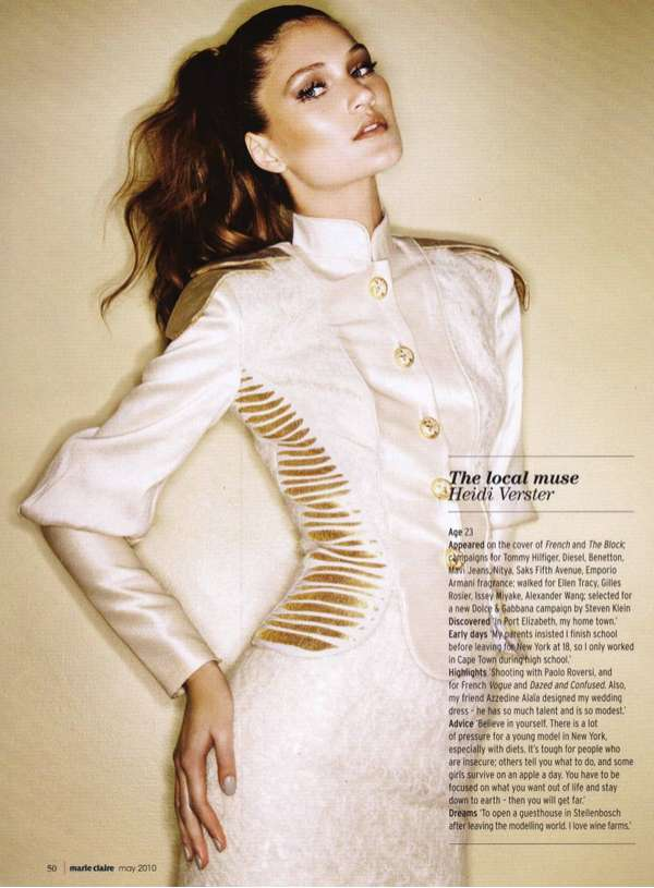 marie claire south africa may 2010