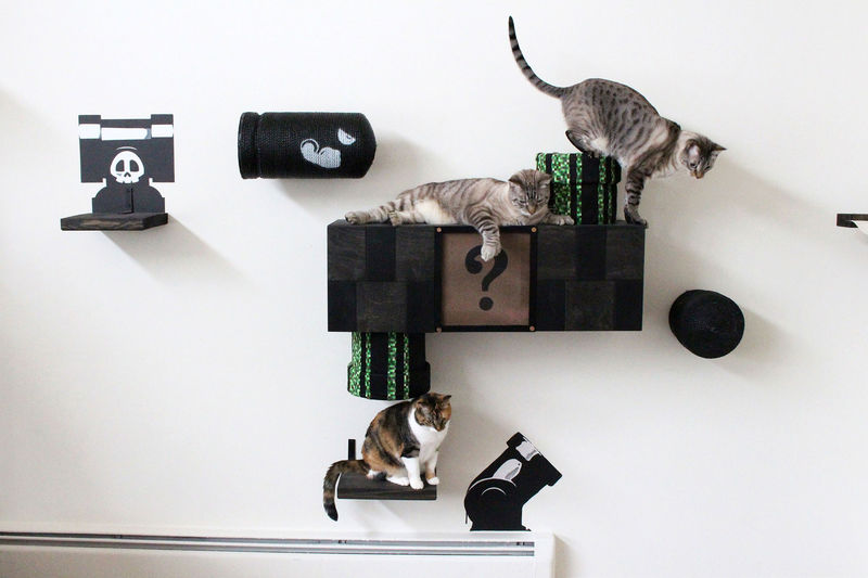 Arcade-Themed Cat Decor