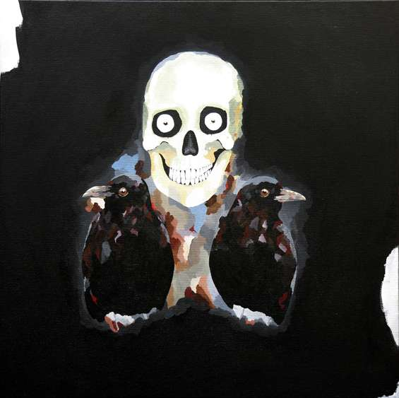 Surrealist Cranium Paintings
