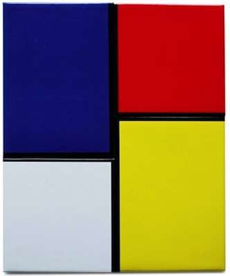 De Stijl Fridge Decor