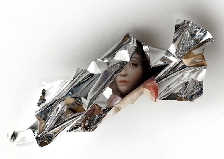 Distorted Foil Paintings