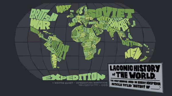 Wordy Geo-Political Maps