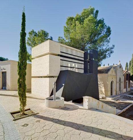 Juxtaposed Steel Mausoleums