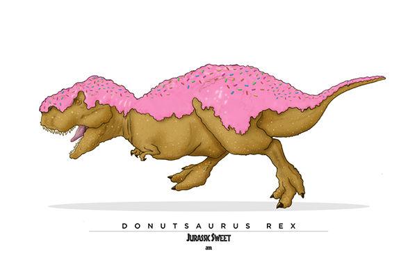 Dinosaur Dessert Drawings