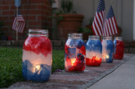 DIY Patriotic Luminaries