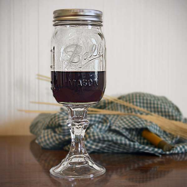 Mason Jar Redneck Wine Glass