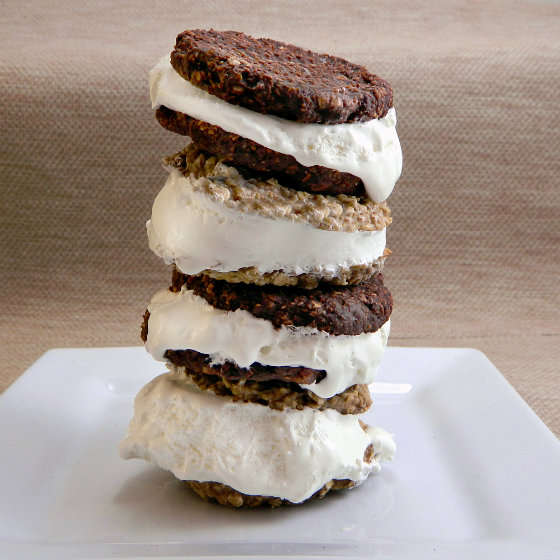 Towering Ice Cream Sandwiches