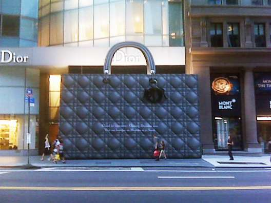 Massive Lady Dior Bag Covers 57th Street Store
