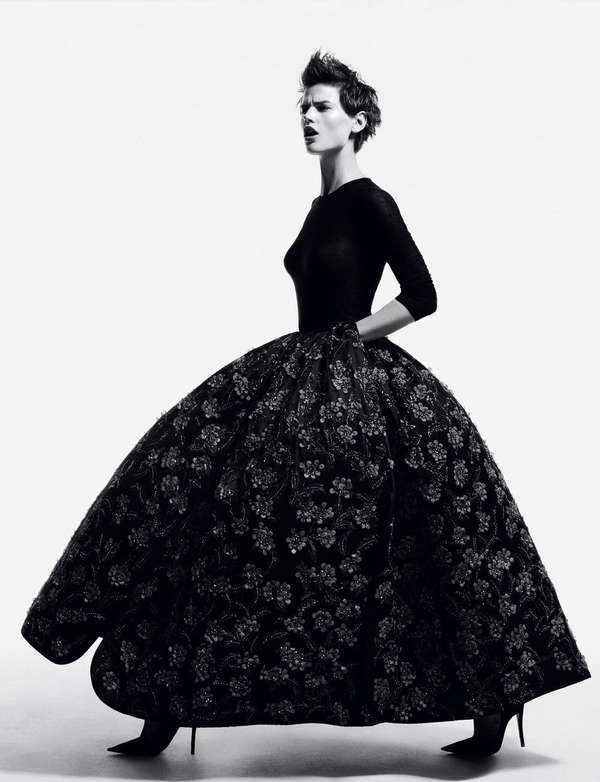 Black Ball Gown Editorials