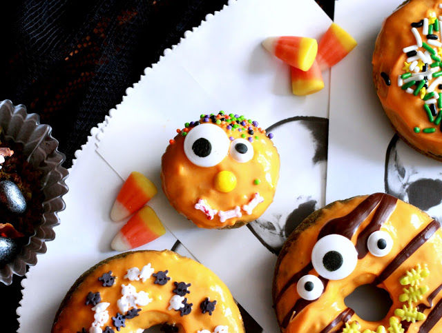 Spooky Matcha Donuts