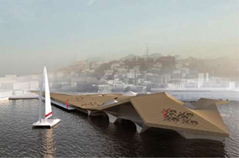 Creased Architectural Wharfs