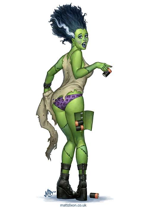 Seductive Monster Pin-Ups