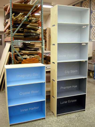 Matt Kennedy Paintchip Bookshelf