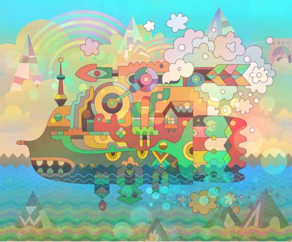 Vibrant Kaleidoscopic Illustrations