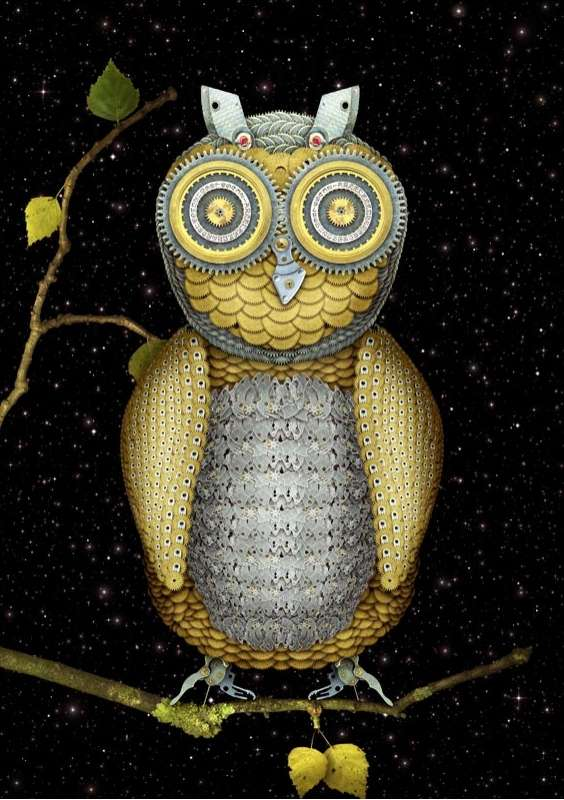 Mechanical Owl Art