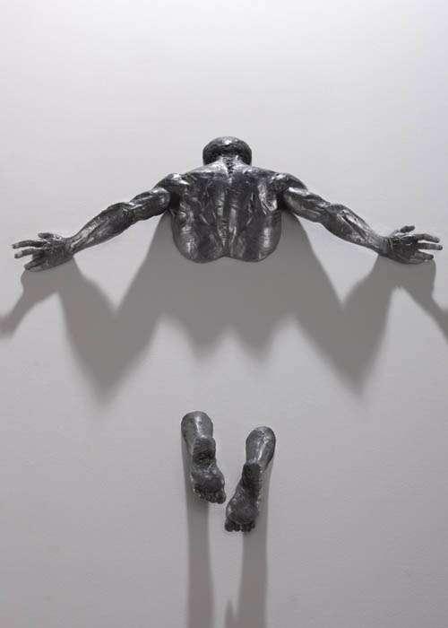 Embedded Escape Sculptures Matteo Pugliese
