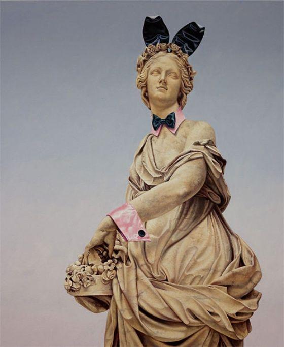 Satirical Classical Statues